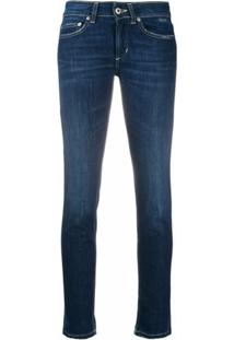 Dondup Monroe Low-Rise Skinny Jeans - Azul