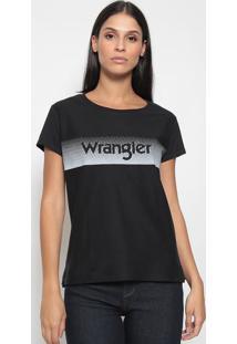 Camiseta Geométrica & Inscrição - Preta & Cinza Clarowrangler