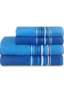 Jogo De Banho Camesa Vegas Banhão 4 Peças Netuno Azul