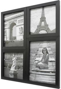 Painel Multifotos Para 4 Fotos 24X29Cm Preto