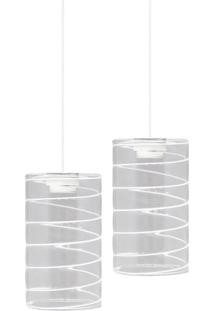 Luminária Pendente Taschibra Td 641/2 Para 2 Lâmpadas Branca Bivolt