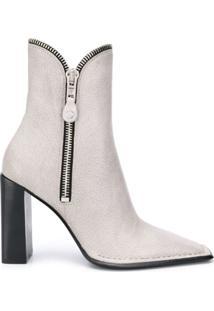 Alexander Wang Block Heel Ankle Boots - Branco