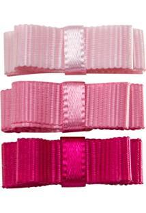 Laço C/ Velcro Em Gorgurão Rosa - Roana Lve00100 Laços Velcro 352 Tons Rosa