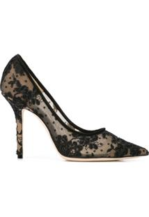 Jimmy Choo Scarpin 'Love 100' De Renda - Preto