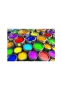 Painel Adesivo De Parede - Latas De Tinta - 024Pn-M
