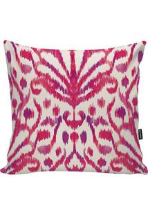 Capa De Almofada Ikat- Pink & Lilás- 45X45Cm- Ststm Home
