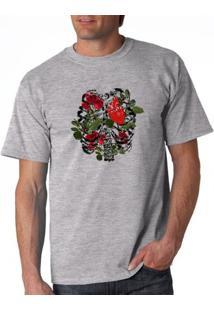 Camiseta Milá Respire Amor Love - Masculino-Mescla