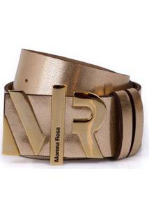 Cinto Cintura Quadril Fino Letreiro Mr Branco/Dourado