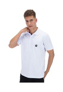 Camisa Polo Hd Estampada Simple 5653A - Masculina - Branco