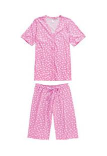 Pijama Capri Aberto Floral Malwee Liberta (1000060050) 100% Algodão