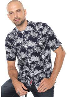 Camisa Aramis Slim Resort Navy Azul Marinho/ Branca
