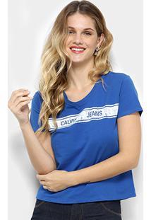 Camiseta Calvin Klein Faixa Feminina - Feminino