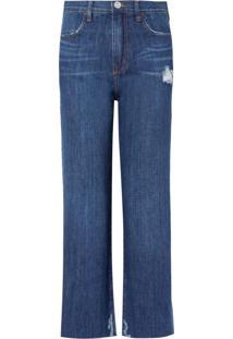 Calça Bobô Ingrid Jeans Azul Feminina (Jeans Escuro, 34)