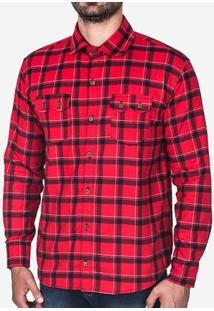 Camiseta Hermoso Compadre Xadrez Masculina - Masculino-Vermelho