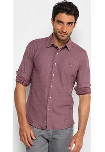 Camisa Rg 518 Bordado Malha Masculina - Masculino