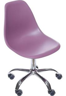 Cadeira Eames Dkr- Roxa & Prateada- 93X47X41Cm- Or Design
