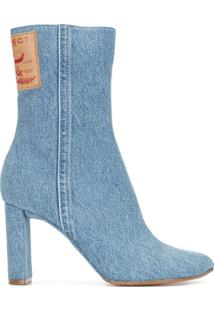 Y/Project Ankle Boot Jeans - Azul