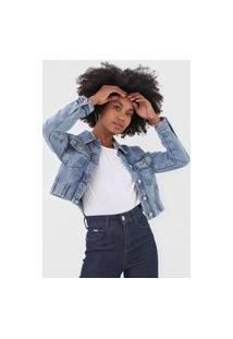 Jaqueta Jeans Vero Moda Bolsos Azul