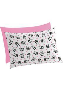 Fronha De Malha Kit Estampada Mini Menina 30 Cm X 40 Cm Com 2 Peças Lepper Pink