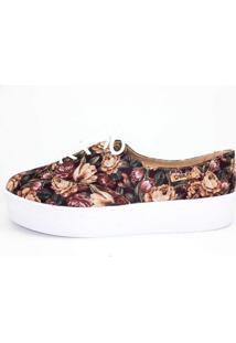 Tênis Flatform Quality Shoes Feminino 005 Floral 33