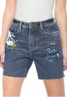 Bermuda Jeans Carmim California Tomboy Azul