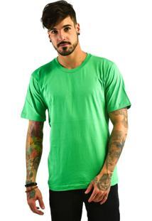 Camiseta Rich Young Básica Gola Careca Lisa Verde