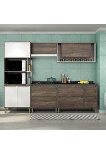 Cozinha Compacta C/Tampo Allure05 – Fellicci - Naturalle / Branco