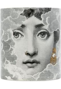 Fornasetti Vela Com Estampa Face - Branco
