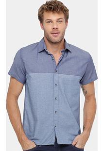 Camisa Colcci Recorte Bicolor Masculina - Masculino