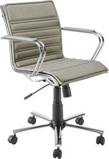 Cadeira Office Diretor Giratória Com Pistão A Gás Havenna Movelfar - Linho Turim Bege - Multistock