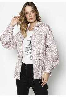 Jaqueta Floral Com Amarração- Rosa & Marromlez A Lez