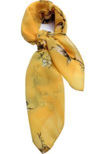 Lenço Smm Acessorios Flores Amarelas
