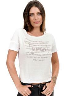 Blusa Feminina Estampada Branco