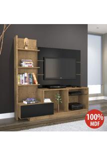 Estante Para Tv 100% Mdf 968 Demolição/Preto - Foscarini