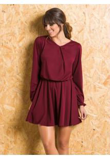 38d1f62f4 Vestido Marsala Moda Pop feminino