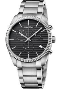 Relógio Calvin Klein Masculino Em Aço Prateada