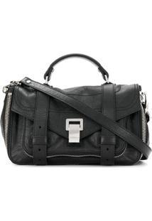 Proenza Schouler Bolsa Ps1+ Zip Pequena - Preto