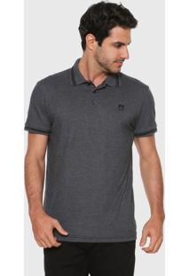 Camisa Polo Mr Kitsch Reta Logo Cinza