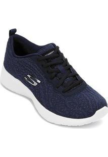 Tênis Skechers Dynamight Blissful Feminino - Feminino-Azul Escuro