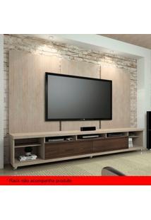 Painel Para Tv 60 Polegadas Elite Santana E Rovere Marsala 240 Cm