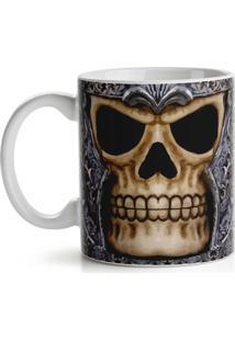 Caneca Old Skull Geek10 - Multicolorido