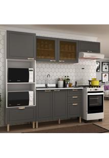 Cozinha Completa 4 Peã§As Americana Multimã³Veis 5671 Branco/Grafite - Branco/Incolor - Dafiti
