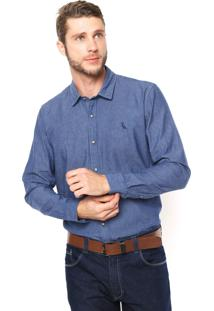 Camisa Reserva Regular Fit Textura Azul
