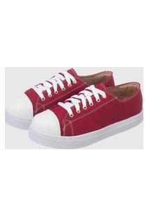Tênis Casual Sapatenis Confort Vermelho