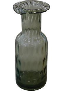 Vaso De Vidro Bottle Fumê Kasa Ideia