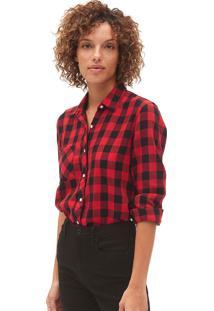 Camisa Gap Xadrez Vermelha/Preta