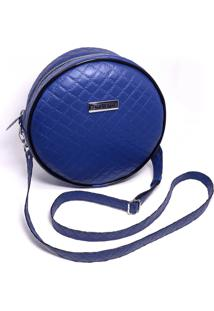 Bolsa Redonda Feminina Lisa Mini Bag Transversal - Preto - Feminino - Dafiti