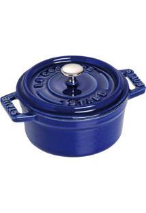 Mini Caçarola Redonda Ferro Fundido 10 Cm Azul Marinho Staub