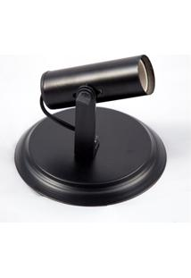Spot De Sobrepor Em Alumínio Para 1 Lâmpada Tubo Preto