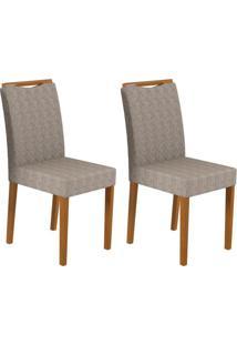 Conjunto Com 2 Cadeiras Munique Ipê E Cinza